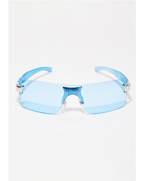 Fixate On Me Rectangle Sunglasses