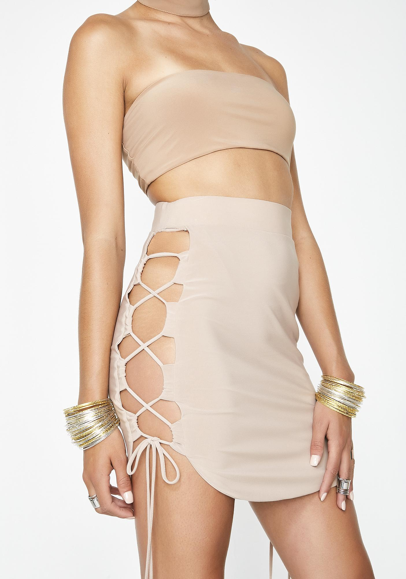 Got Ur Attention Lace-Up Skirt