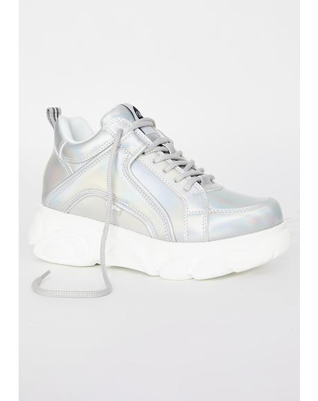 Holographic Corin Platform Sneakers
