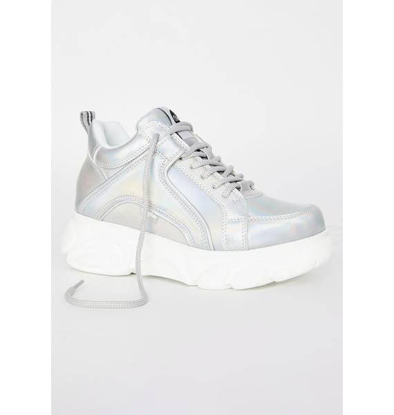 Buffalo Holographic Corin Platform Sneakers