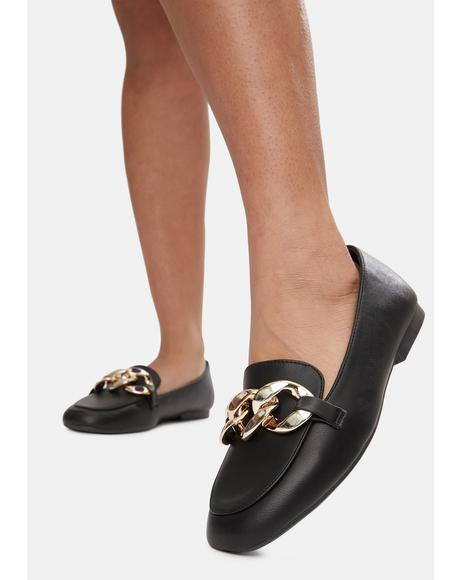 Reach New Heights Chain Loafer Flats