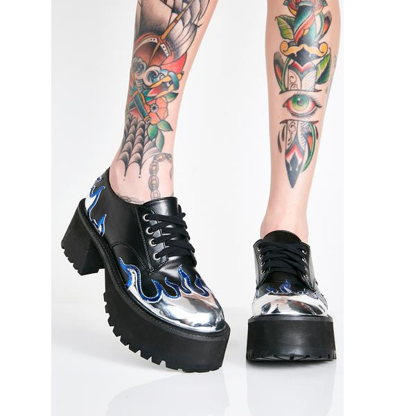 Current Mood High School Hellcat Chunky Platforms