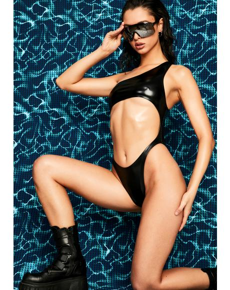 Glater Cut-Out Swimsuit