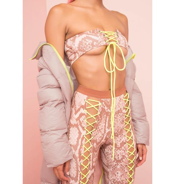 Poster Grl Ish Talker Lace-Up Bandeau