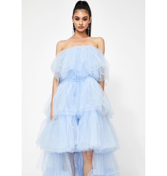 Kiki Riki Certainly Privileged Tulle Maxi Dress