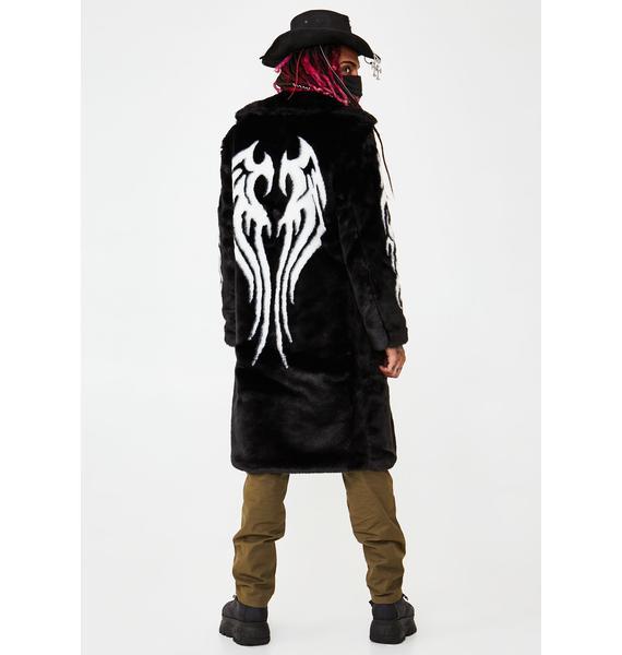 Club Exx Fallen Angel Faux Fur Coat