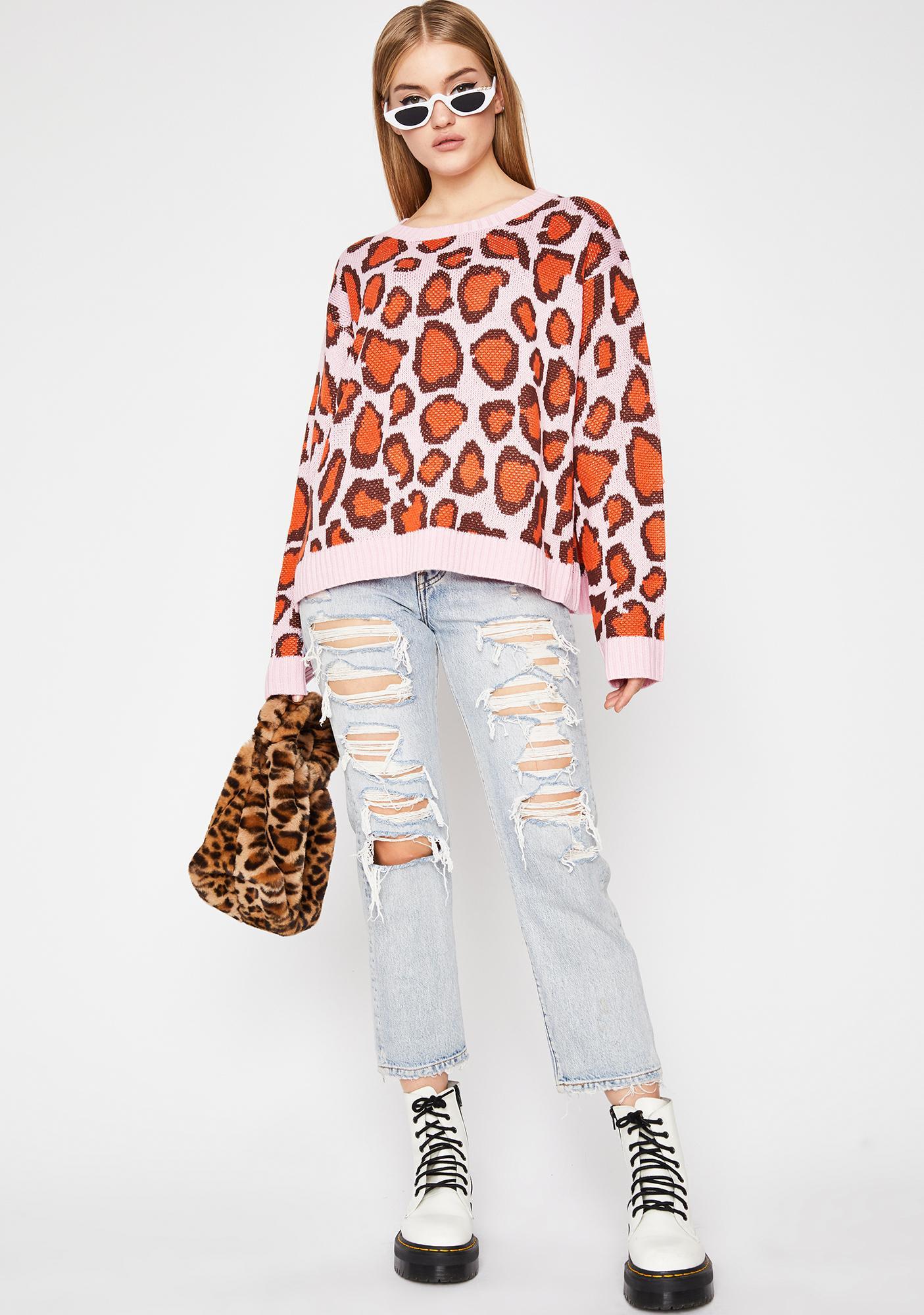 Pounce Possy Leopard Sweater