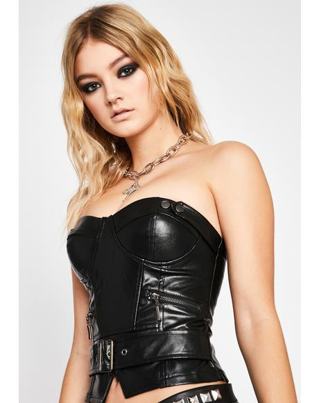 Wicked Edge Of Glory Moto Corset
