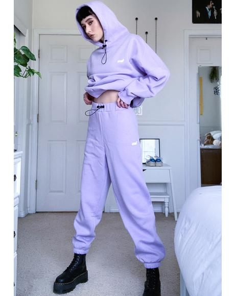 Purple Toggle Sweatpants