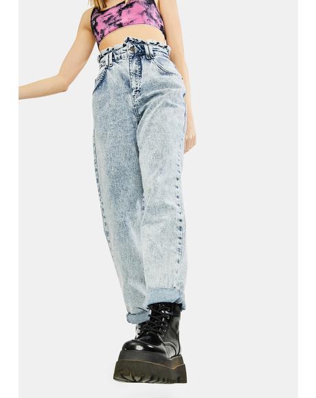 April Ruffle Denim Jeans
