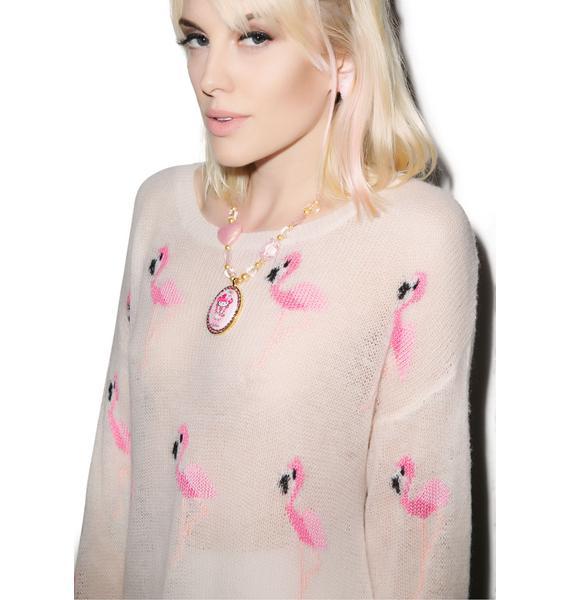 Wildfox Couture Miami Suburb Lenon Sweater