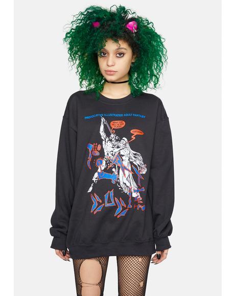 X Playdude Demon Be Gone Crewneck Sweatshirt