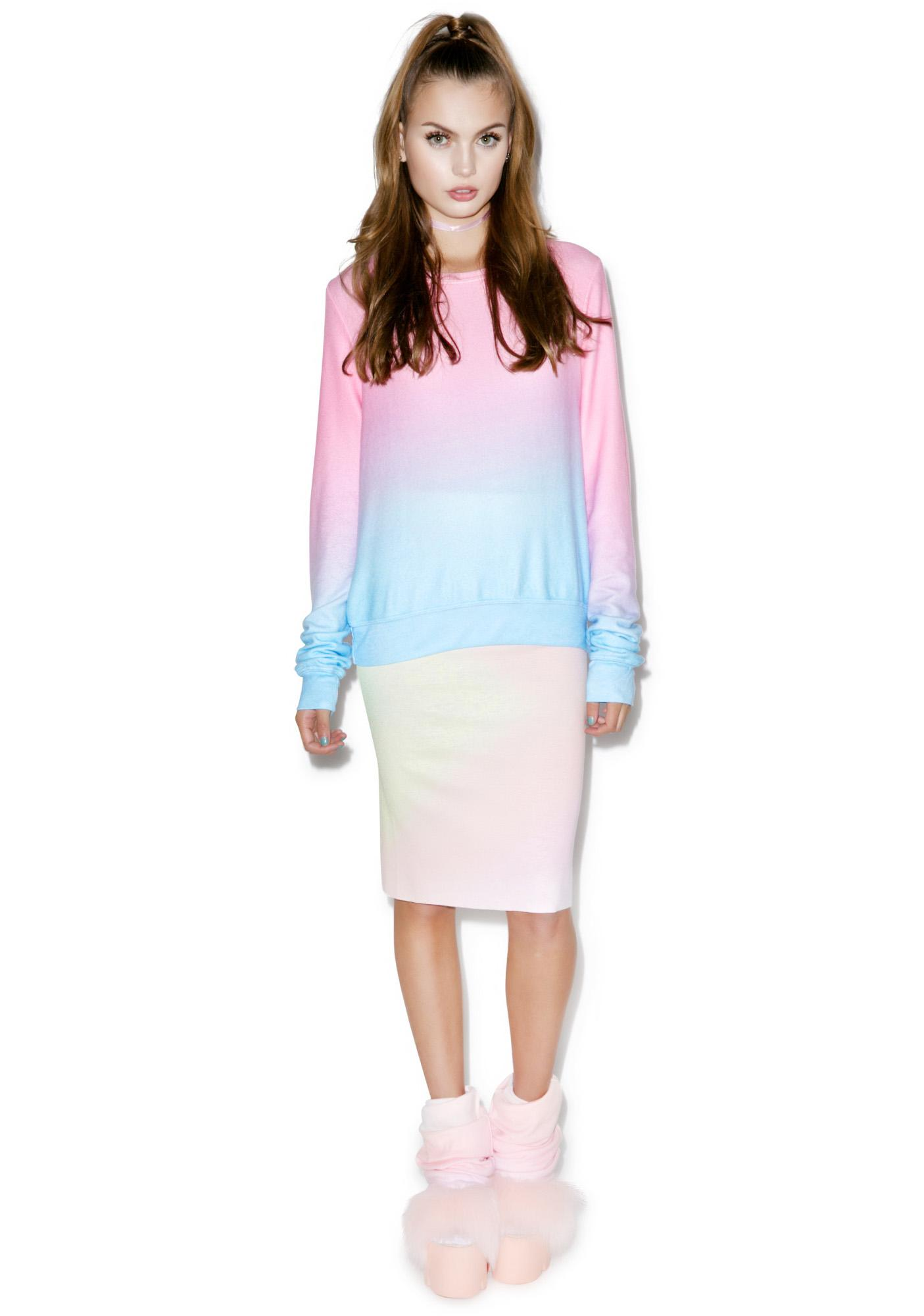 Wildfox Couture I Am The Ocean Baggy Beach Jumper