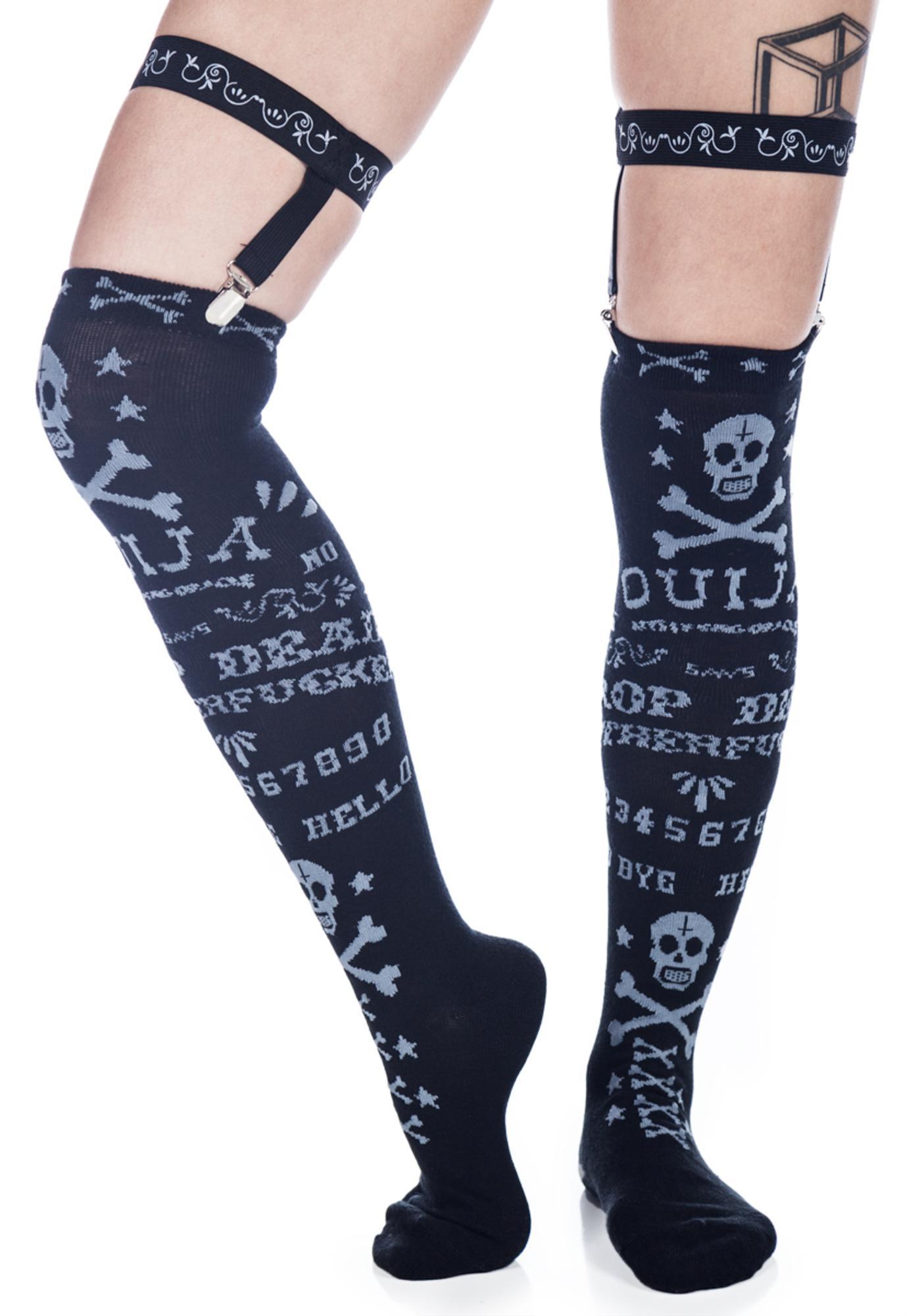 Too Fast Ouija Garter Socks