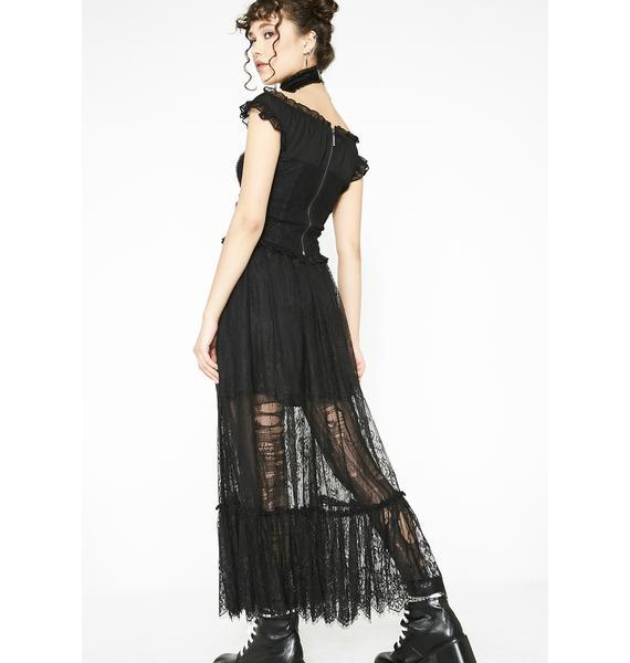 Punk Rave Gothic Zipper Lace Half Skirt