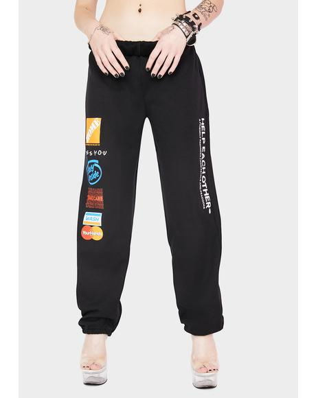 Help Each Other Graphic Sweatpants