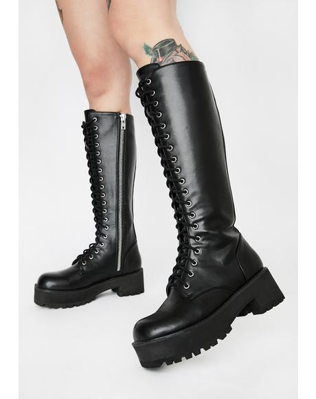 Viral Violation Knee High Boots