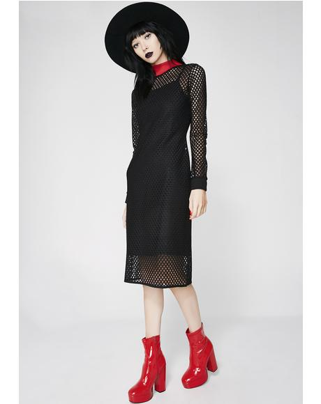 Enmeshed Midi Dress