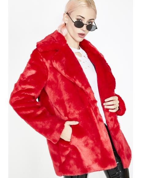 Racked Up Faux Fur Jacket
