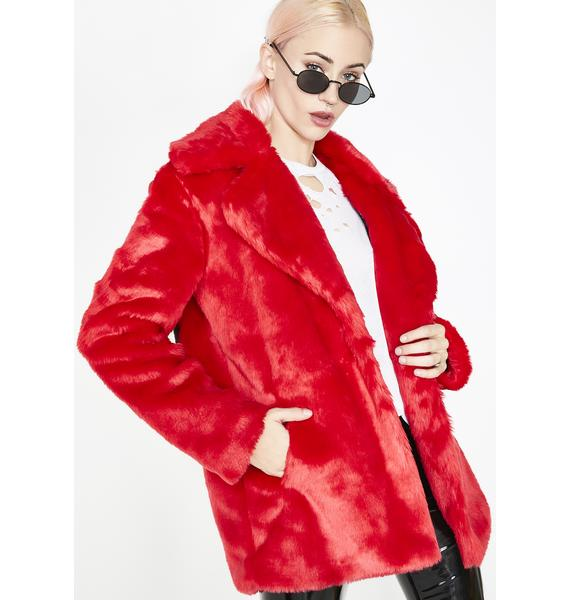Current Mood Racked Up Faux Fur Jacket