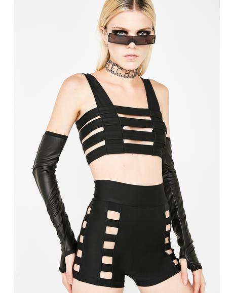 Black Cage Shorts