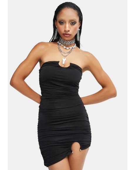 So Irresistible Strapless Mini Dress