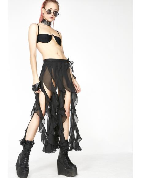 Fierce Femdom Ruffle Skirt
