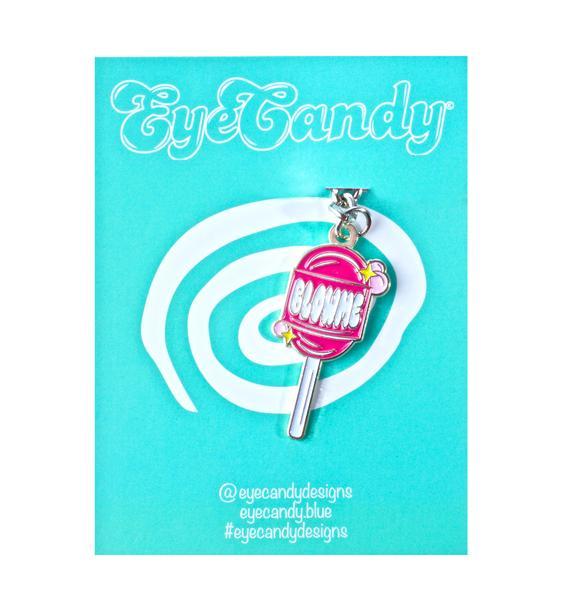 Eye Candy Designs Blow Me Lollipop Keychain