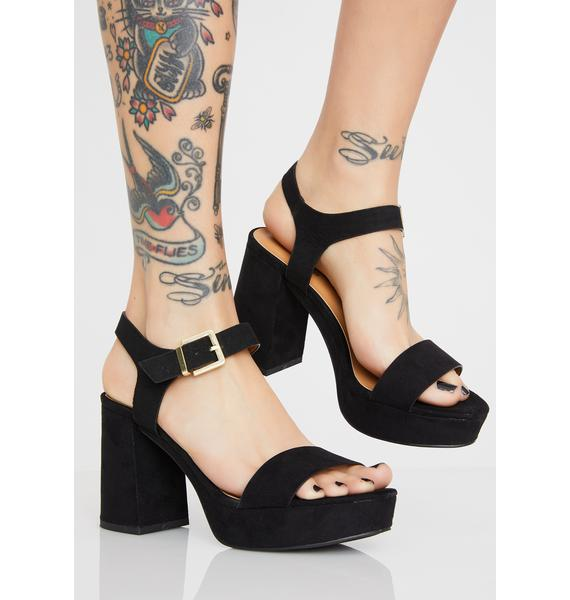 Dark Wanderlust Wifey Block Heels