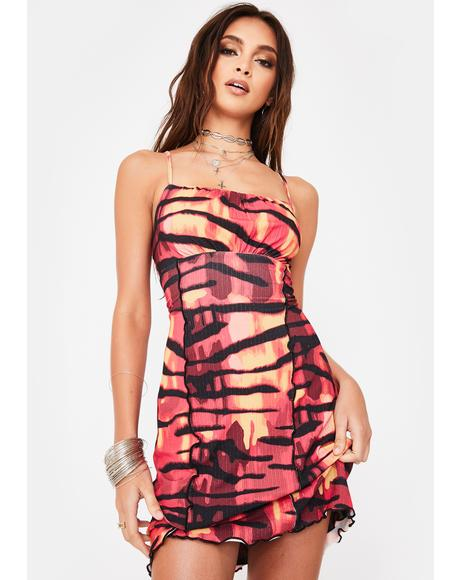 Inferno Mesh Mini Dress