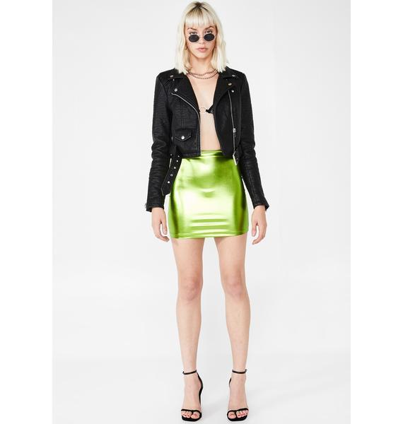 Motel Lime Kimmy Skirt