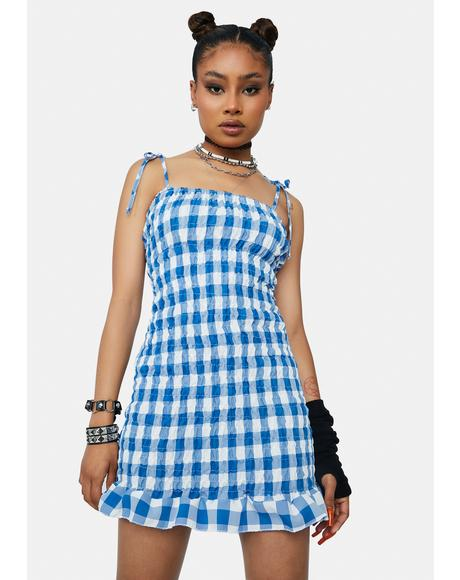 Royal Good Ideas Gingham Mini Dress
