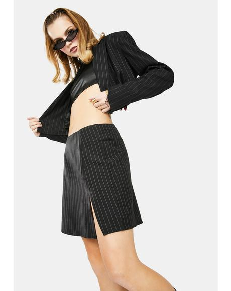 Pinstripe Sheny Mini Skirt