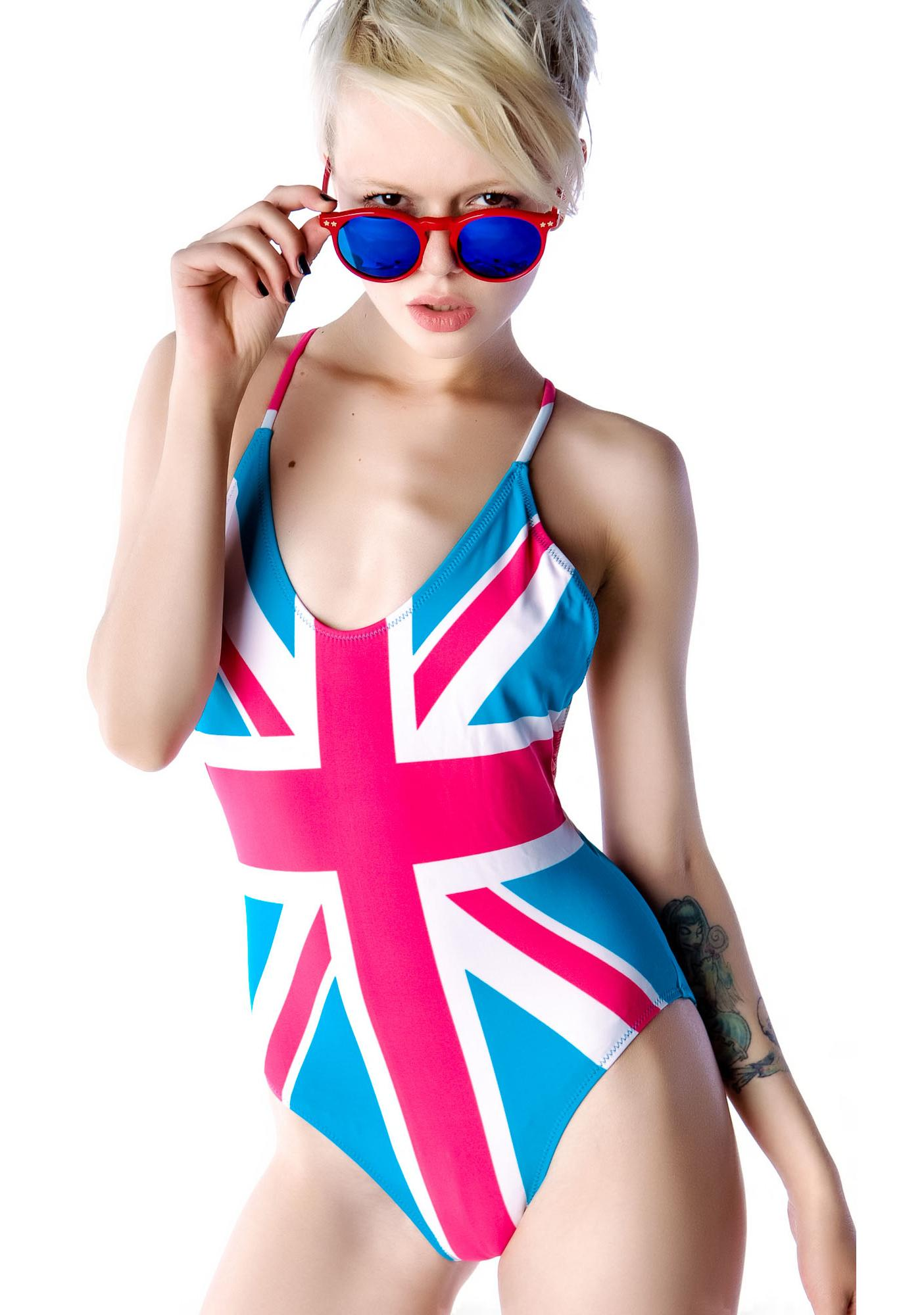 Wildfox Couture Jack Union Classic One Piece Swimsuit