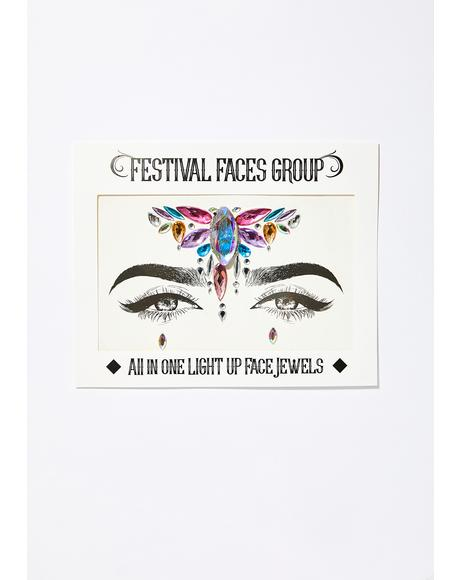 Light Up Face Jewels