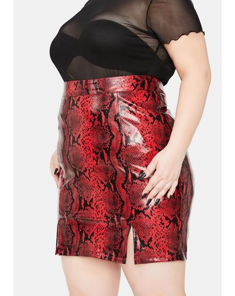 It's For The Thrill Snakeskin Mini Skirt