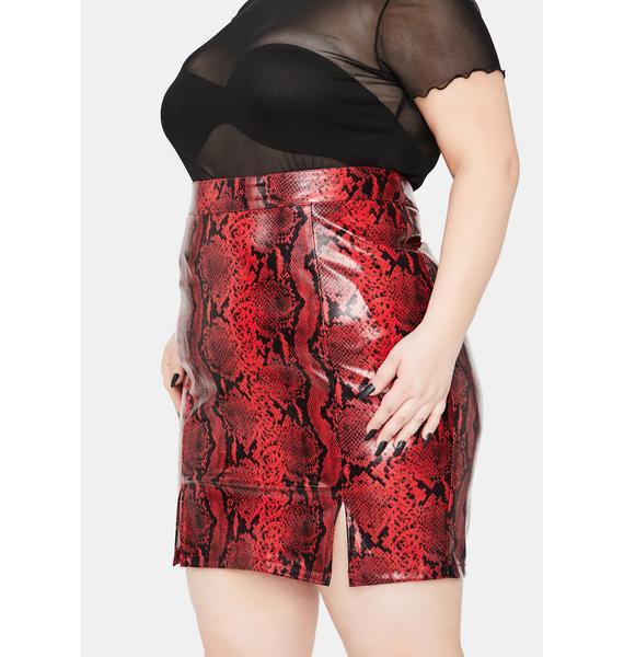 It's For The Thrill Snakeskin Mini Skirt