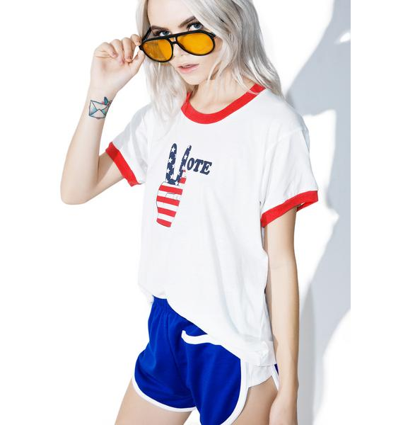 Camp Collection Vote Hand Ringer Tee