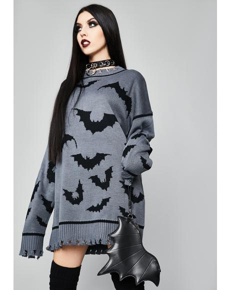 Straight Outta Hell Oversized Sweater