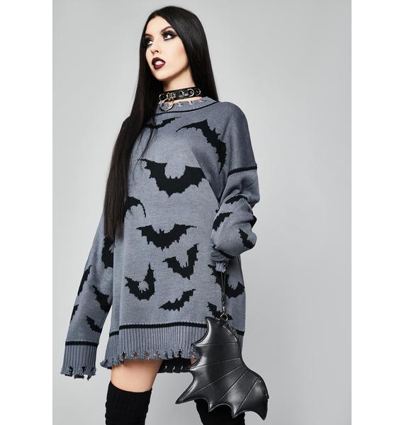 Widow Straight Outta Hell Oversized Sweater