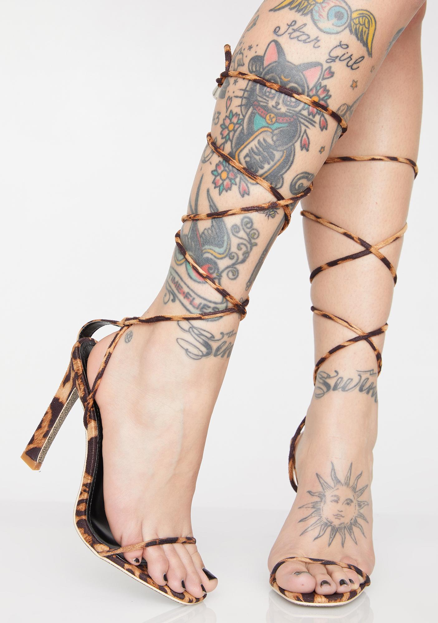 Kitty Here To Slay Wrap Heels