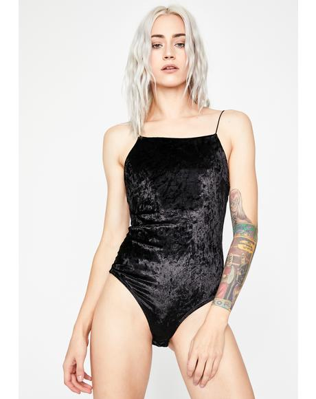 All About U Velvet Bodysuit