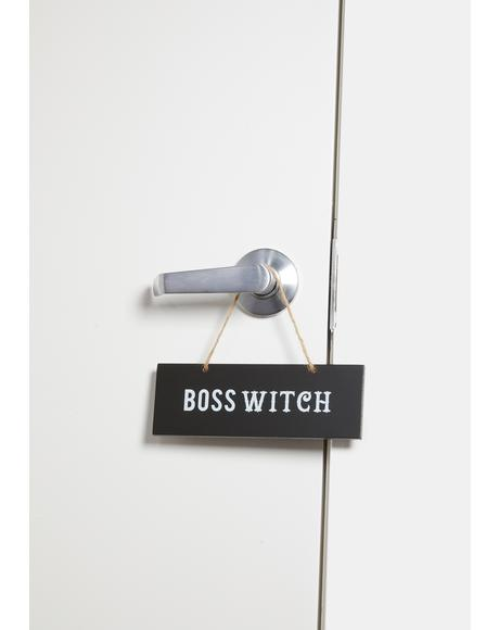 Boss Witch Wall Sign