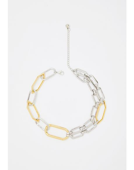Stuck With Me Chain Choker