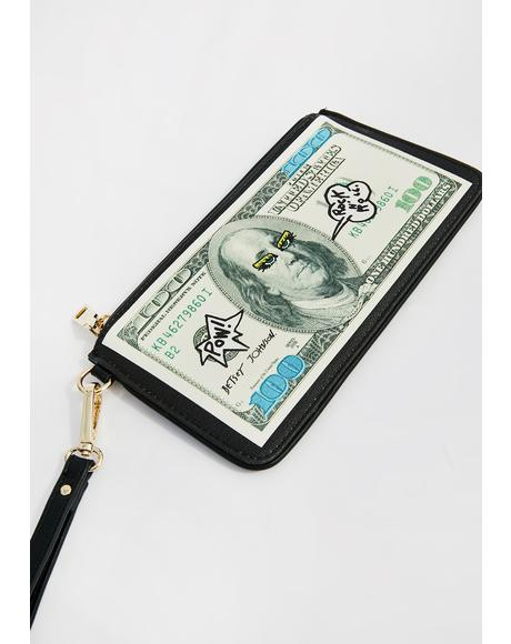 Rockin' Benjamin Wristlet Wallet