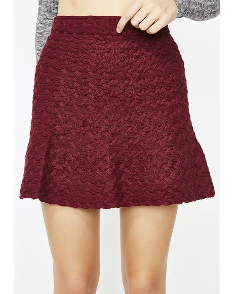 Cozy Corner Sweater Skirt