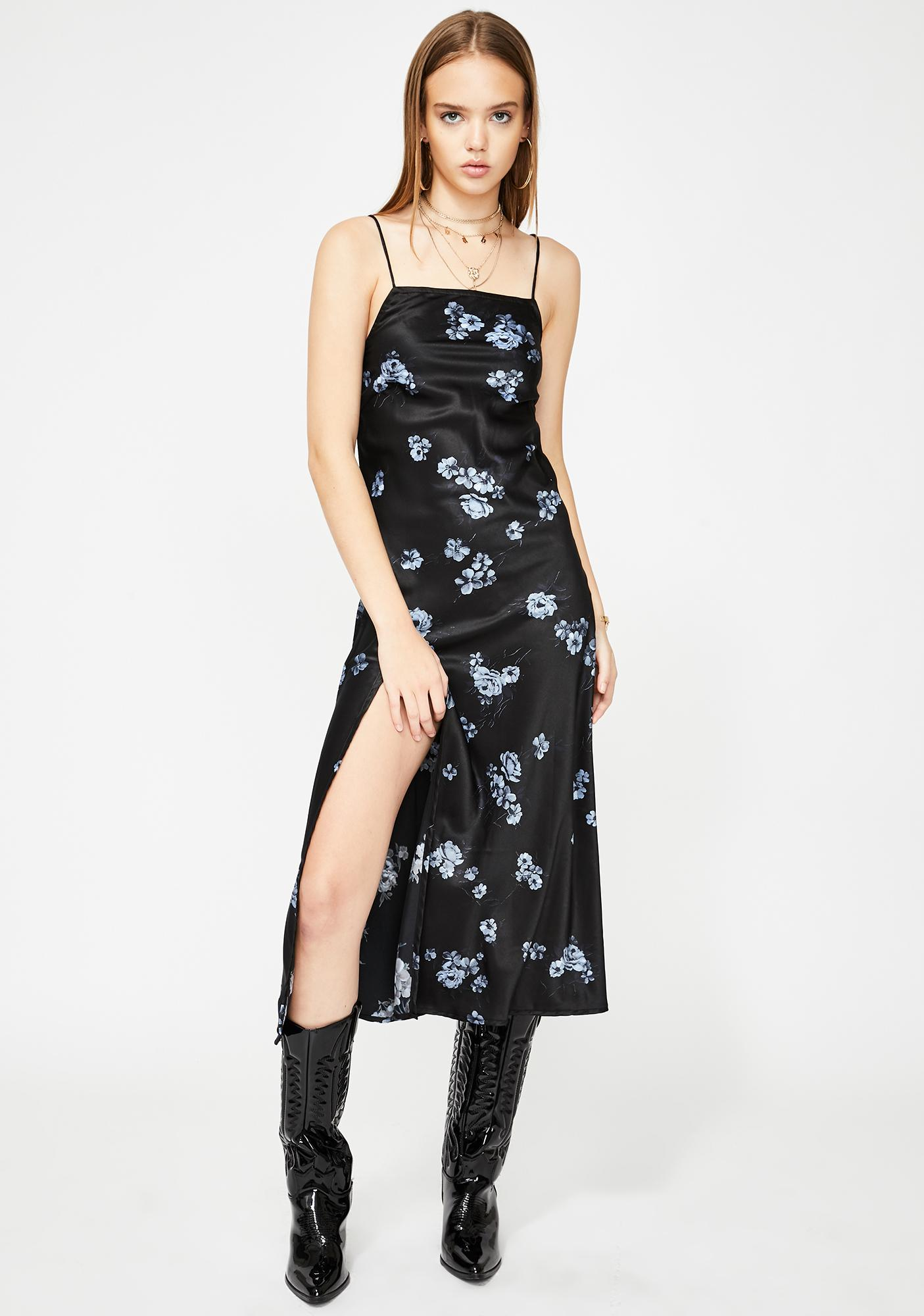Floral Black Quinty Maxi Dress by Motel