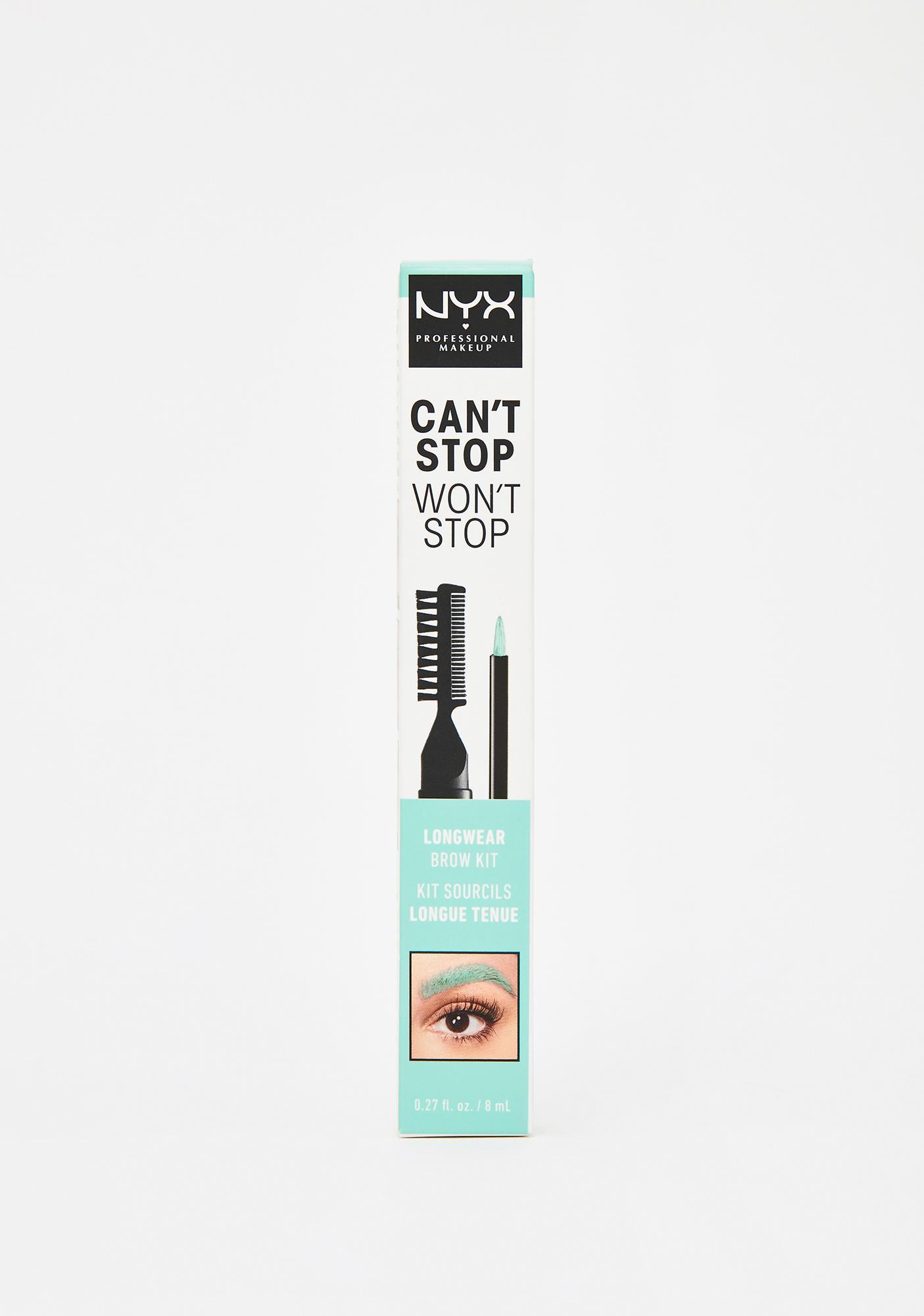 NYX Professional Makeup Mint Can't Stop Won't Stop Longwear Brow Kit