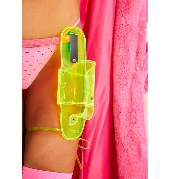 Neon Cowboys Yellow Beer Holster