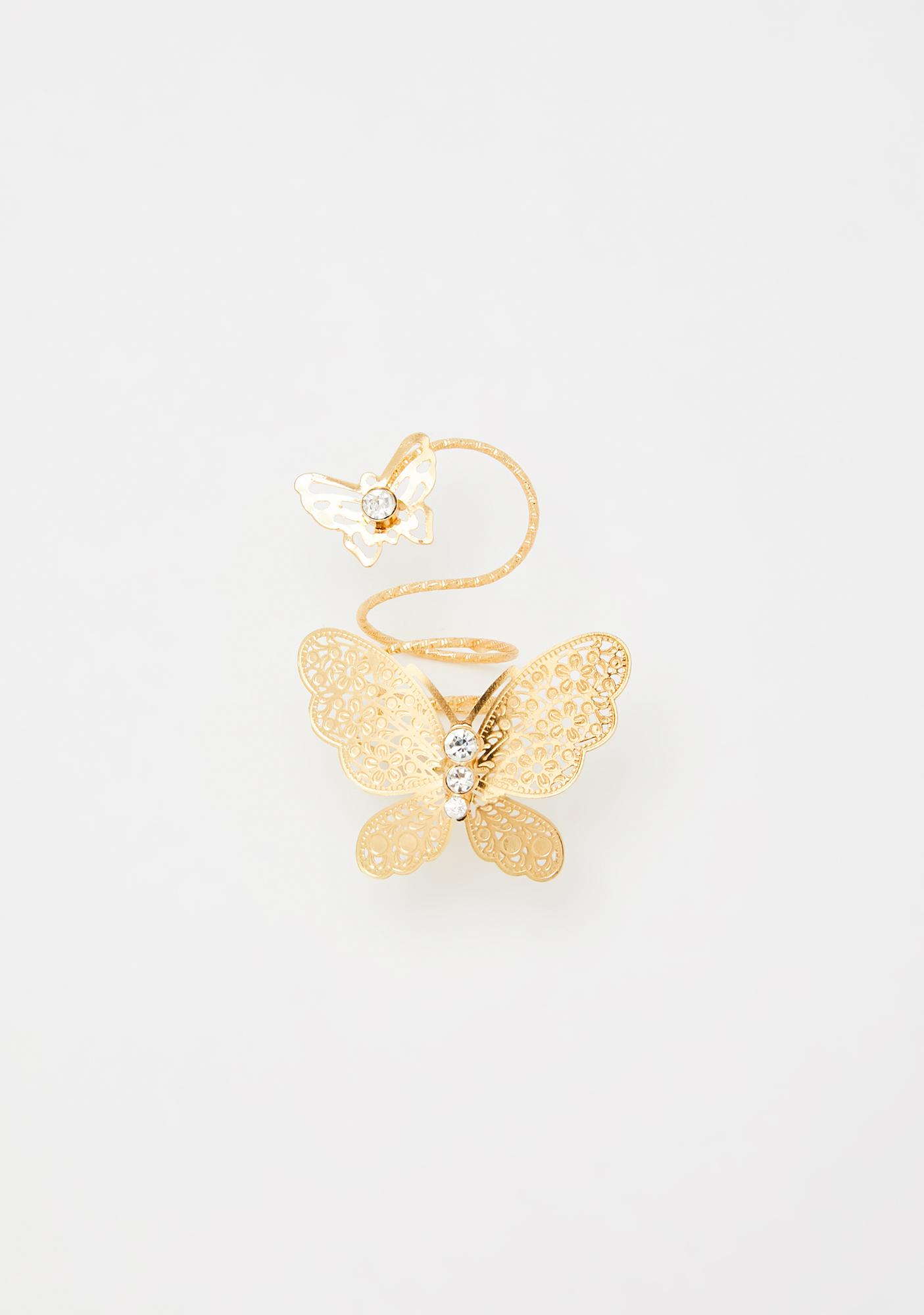 Let's Butterfly Away Statement Ring